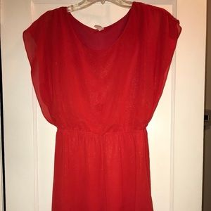 Francesca's Red Sparkling Dress, Size M